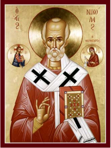 Icon St Nicholas - blessing