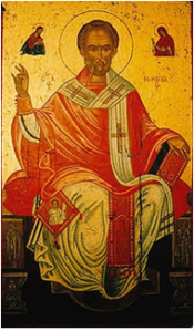 St Nicholas enthroned